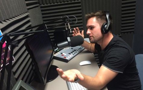 Students dj for Chaminade's online radio station