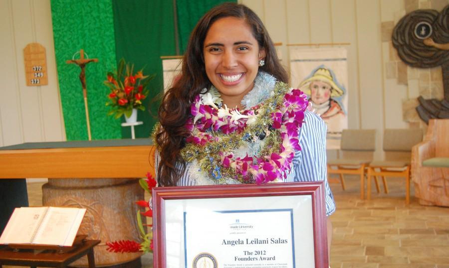 Founders Award presented to Angela Leilani Salas