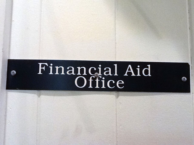The financial aid office is located below the business office in Ching Hall. - Photo by Jessika Garcia