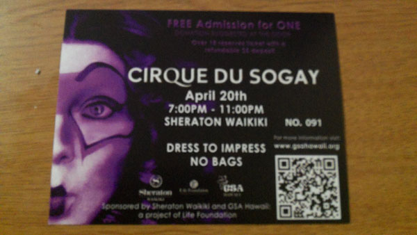 Life Foundation presents Cirque Du SoGay