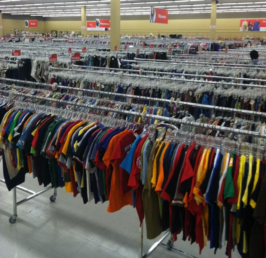 Thrift shopping galore at Savers in Kalihi. Photo by Carol Stacy