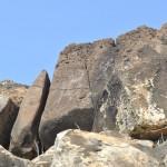 Petrogyphs seen on the higher rocks on Mauna Lahilahi