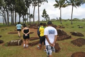 AAP students at the Kukaniloko Birthing Stones