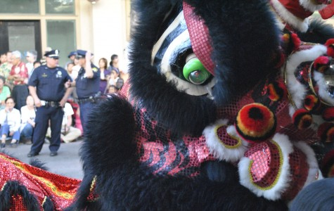 A Chinese lion participates the Night in Chinatown parade.