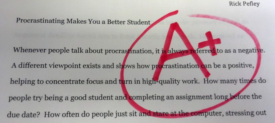 Procrastinating makes you a better student