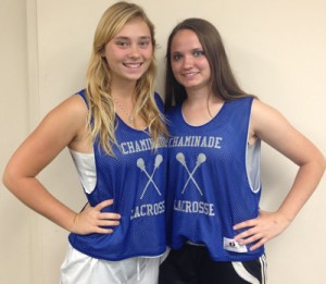 "President and vice president of the lacrosse club, Shea McCormick & Kristen ""Rothy"" Rothermel."