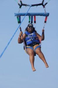 Just cruising in the sky. Photo courtesy of Hawaiian Parasailing Inc.