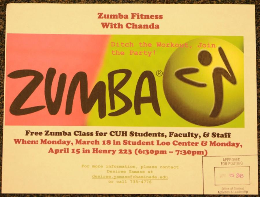 CUH students enjoy Zumba's saucy dance moves