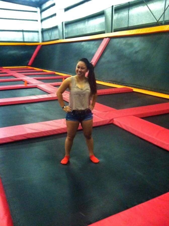 Never too old to jump on trampolines