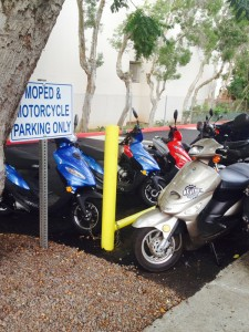 1 of the 11 moped parking areas on Chaminade campus.Photo by: Terrance Aikens