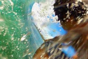 Eddie Traniello Barreling through the wave