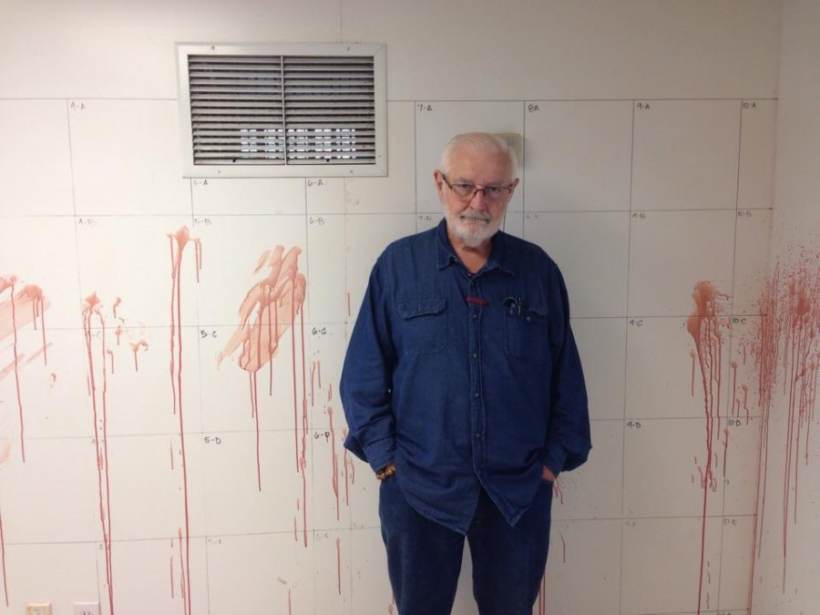 Professor Sullivan in one of the Forensic Sciences facilities.