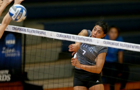 University of Hawaii transfer Keani Passi is already showing her strengths with 107 kills this season, so far.
