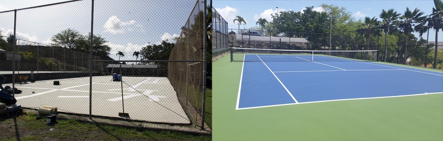 CUH tennis courts are given a makeover.