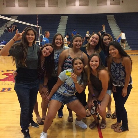 Women's softball team won the recent Penny Wars. Winning their team a pre-game meal.