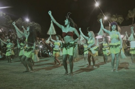 Many clubs, including the Tahitian Club, make their own costumes for the show.