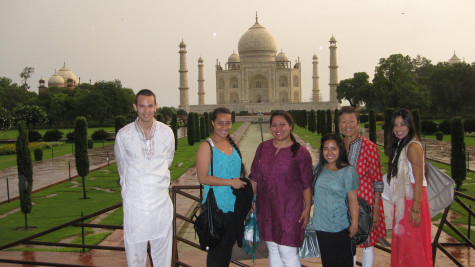 The Taj Mahal was one of the beautiful sites that students visited during their educational trip to India.