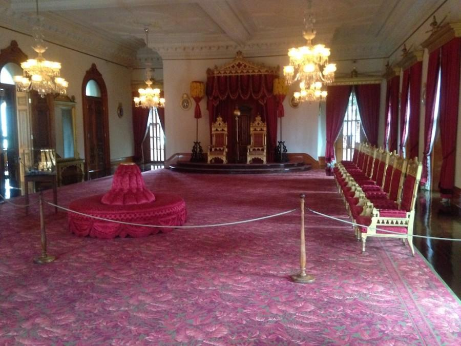 One of the most exciting parts of visiting 'Iolani Palace is to enter the throne room and be able to see the throne of the king and queen along with their crowns.