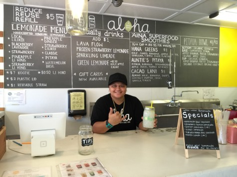 CUH alumni, Noe Maglinti works for Wow Wow at its Wahiawa location.