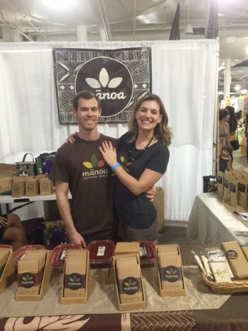Dyland and Tamara Butterbaugh, founders of Manoa Chocolate Hawaii.