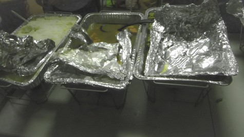Hot meals are being served for any one who is in need.