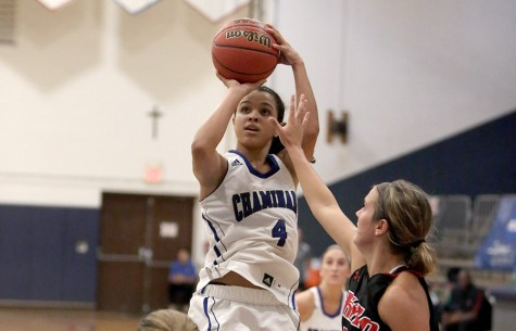 In a game where height is beneficial, starting point guard Kristle Henry, 5-foot-7 shines with her athleticism and speed.