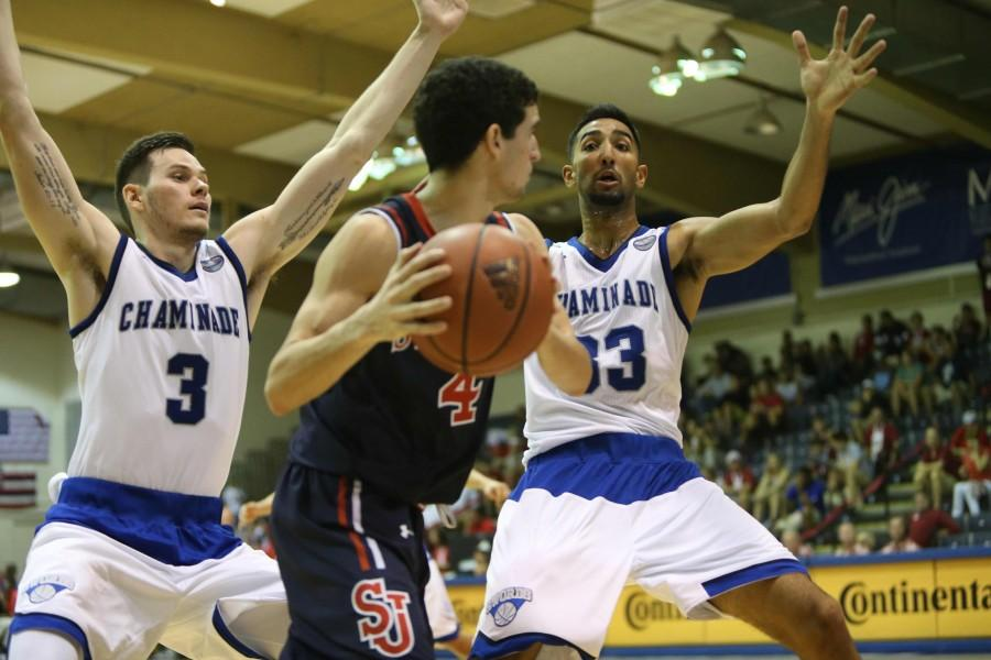 Kiran+Shastri+%28far+right%29+broke+the+Chaminade+career+3-point+record+during+the+Maui+Invitational.