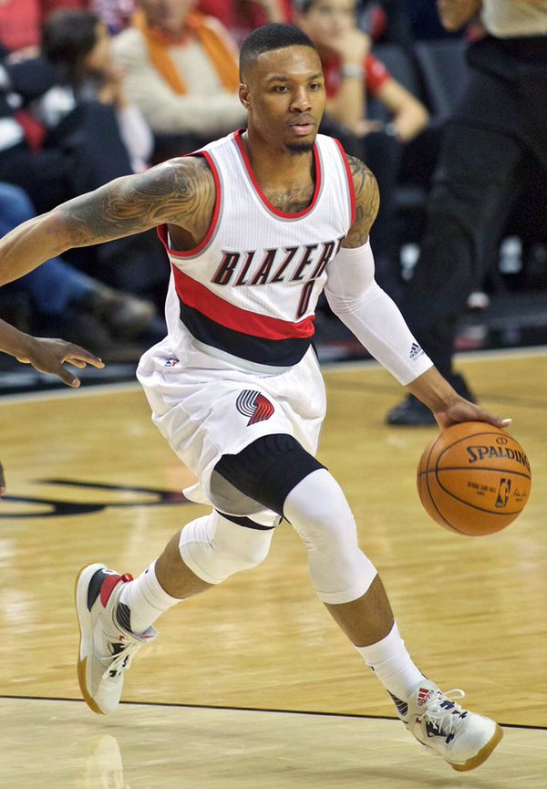 Guard Damian Lillard led the NBA in minutes played his rookie year