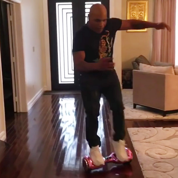 Mike Tyson's failed hoverboard ride was a typical trend at the end of 2015.