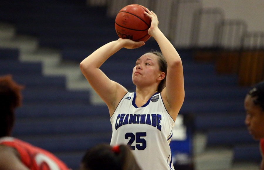 Lilia Maio leads all CUH players with 15.6 points and 8.4 rebounds per game.