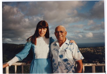 Lilia Castle and Herb Weatherwax, the reason she came and visited Hawaii.