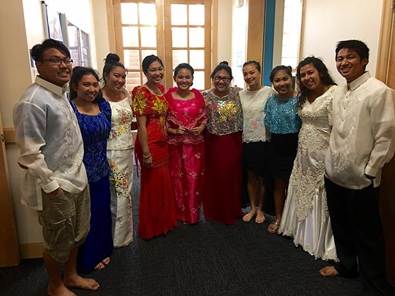 Members of The Filipino Club in their cultural attire.