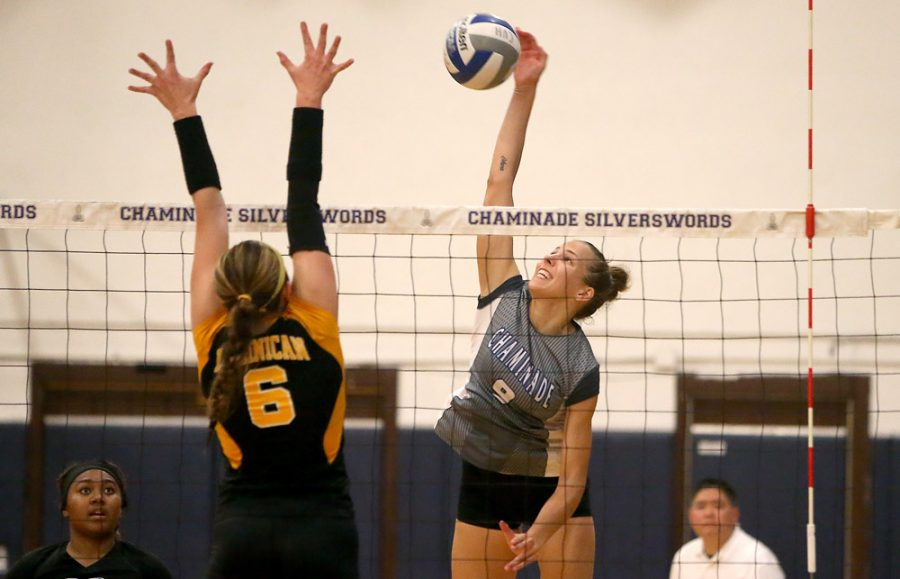 Kim Spring is currently ranked as number eight on the Chaminade women's volleyball record list for most kills.