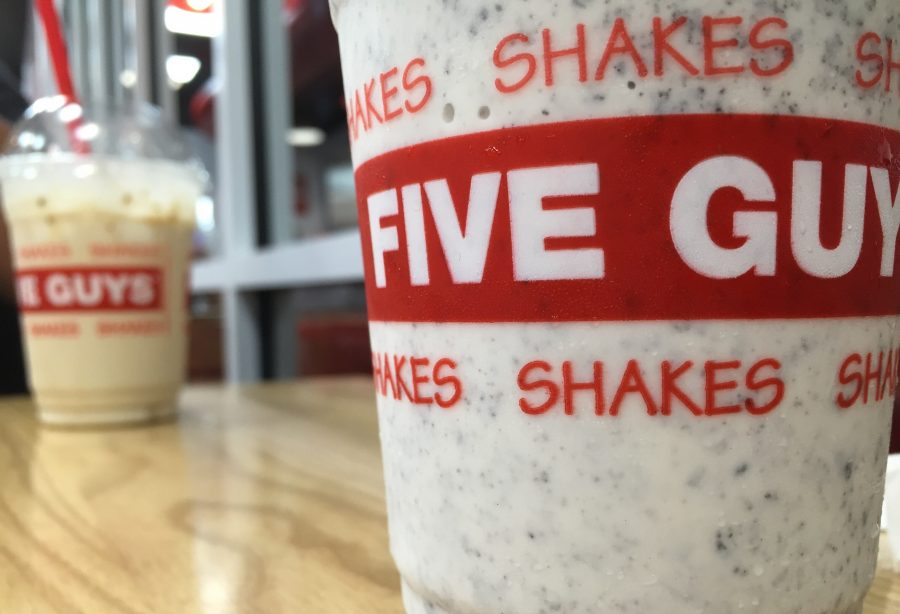 Shake things up at Five Guys and try some of the unique milkshake toppings.