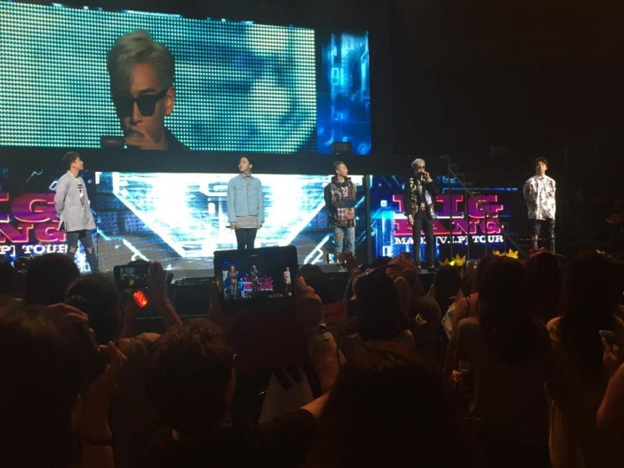 Big Bang kicks off their show with each member greeting the audience.