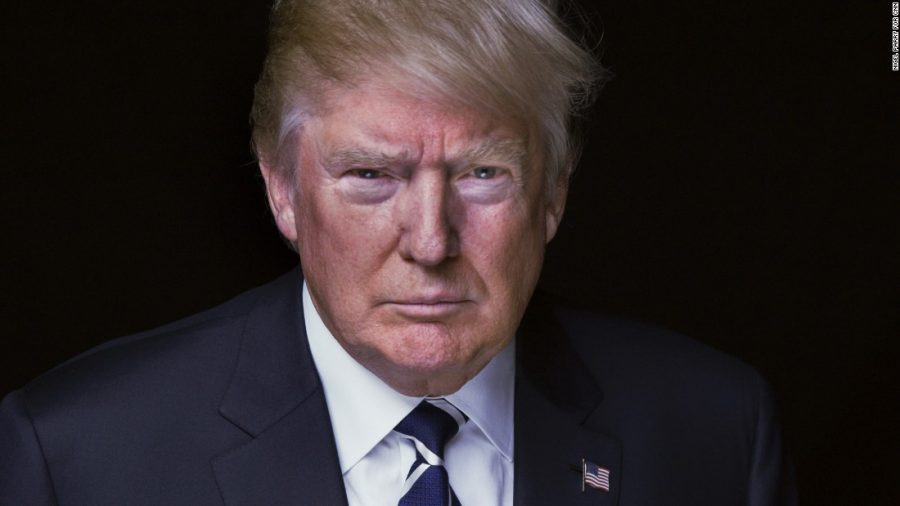 The new-elected President, Donald Trump