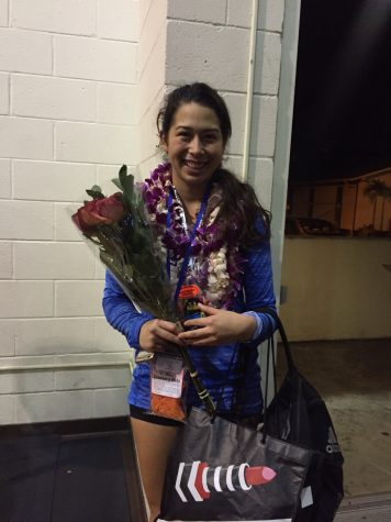 CUH's Senior Waihilo Chartrand defensive specialist played her last game tonight and had an impressive 15 digs.