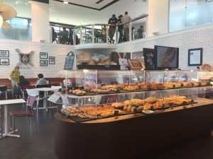 The Japanese style bakery is downstairs and the bistro is up stairs.