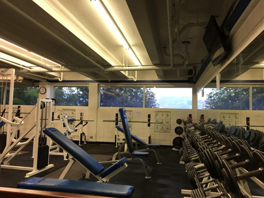 The Carlson Fitness Center is Chaminade's on-campus gym, but it's seen better days.