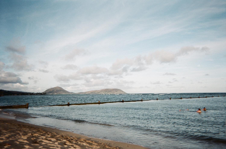 Late afternoon walk at Waialae Beach Park.