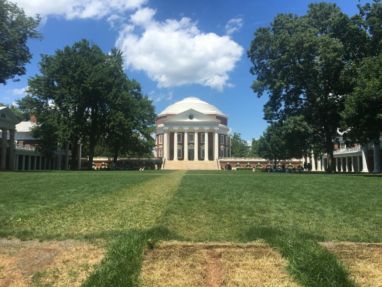 The Rotunda at the University of Virginia, focal point of the grounds.