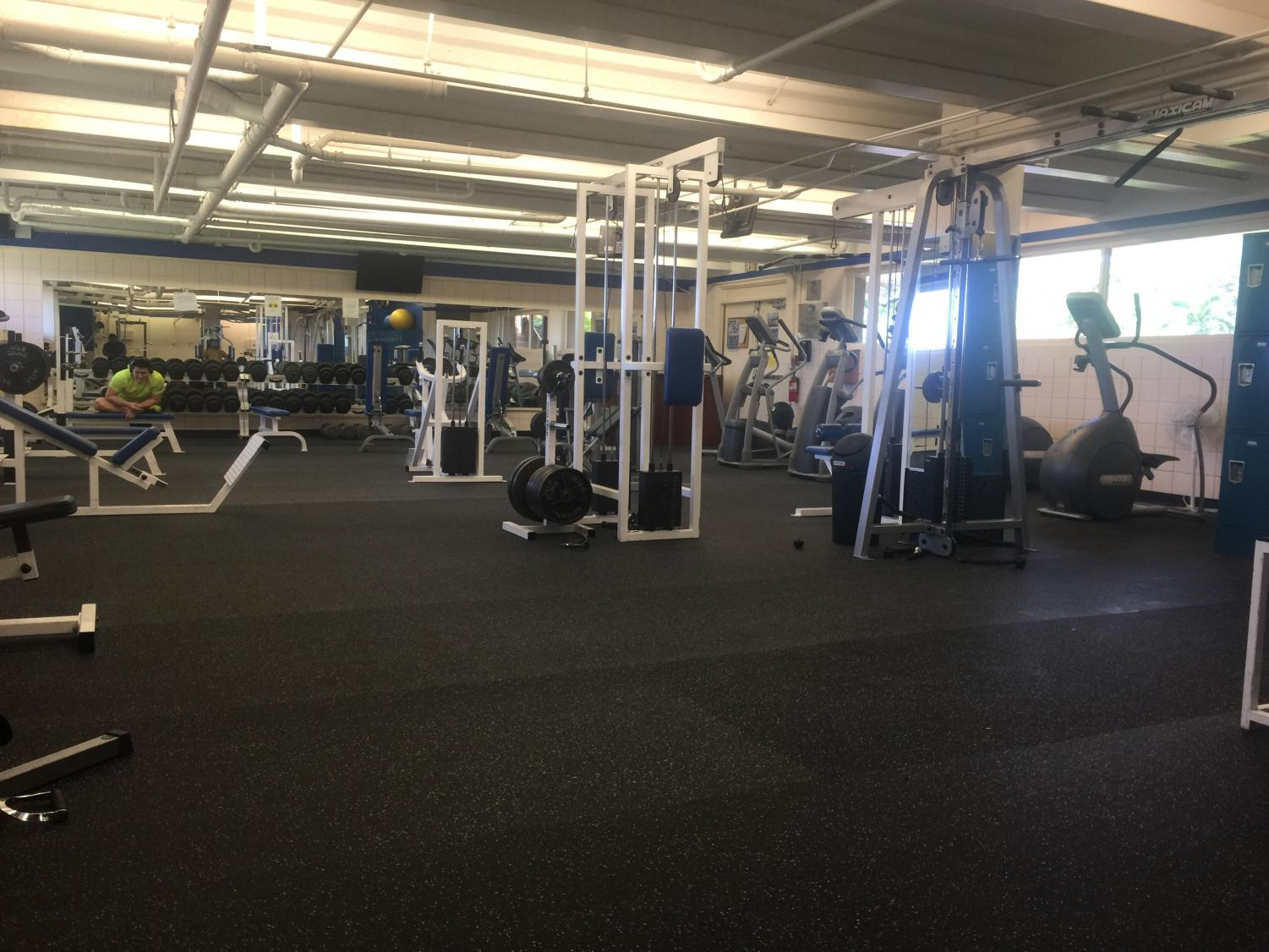 The newly renovated Carlson Fitness Center.