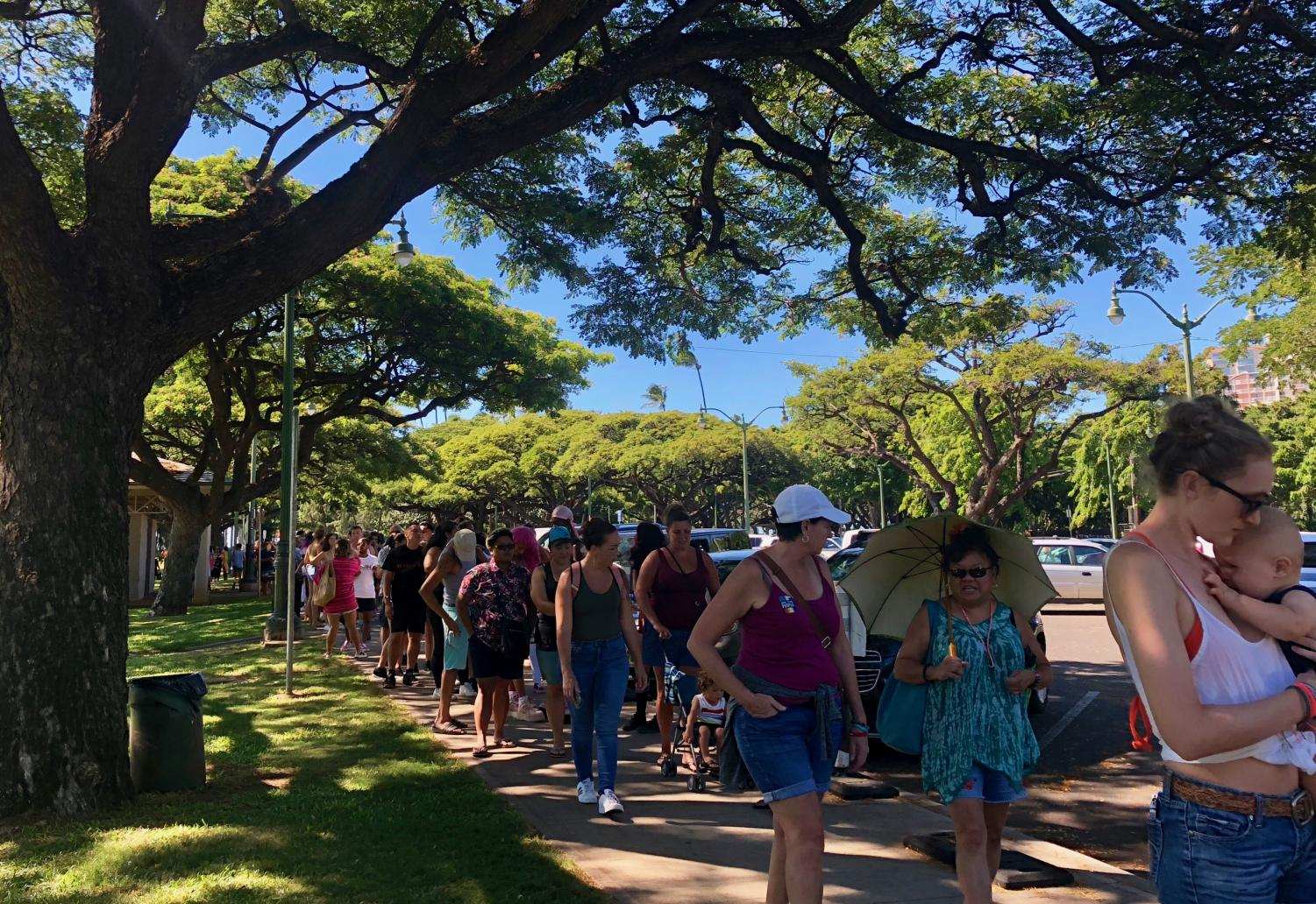 Honolulu+Pride+attendees+waited+patiently+in+line+at+the+Waikiki+Shell+for+entry+into+the+festival+where+the+celebration+continued+from+11%3A30+a.m.+to+6+p.m.