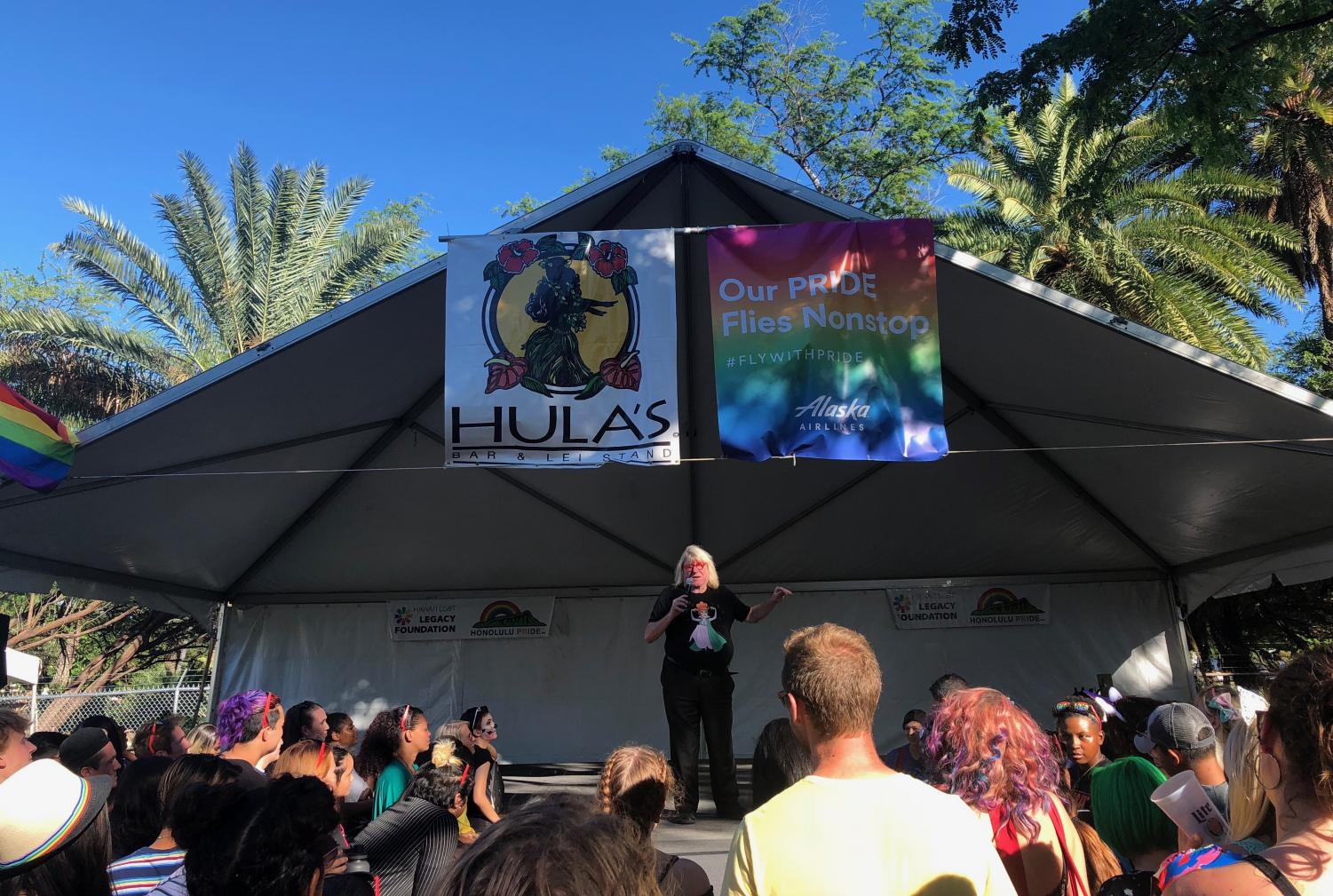 Openly+gay+Emmy+Award+winning+comedian%2C+songwriter+and+actor%2C+Bruce+Vilanch%2C+called+Hawaii+and+its+food+sophisticated+as+he+talked+on+stage+to+the+festival+audience.