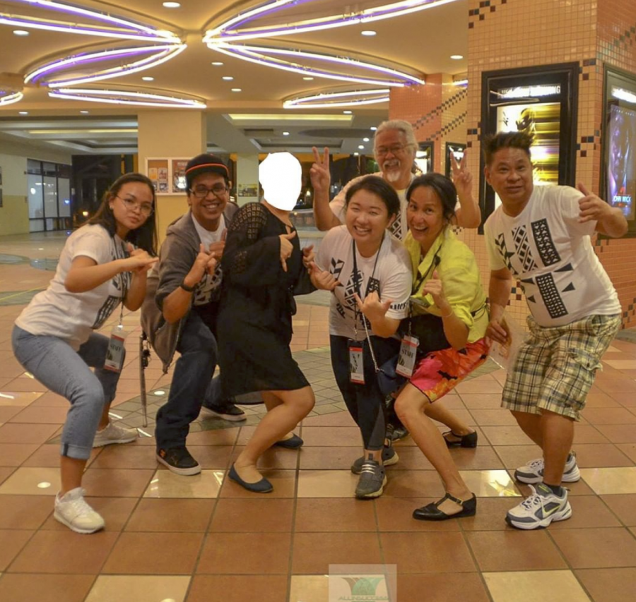 Volunteers for HIFF pose for a photo.