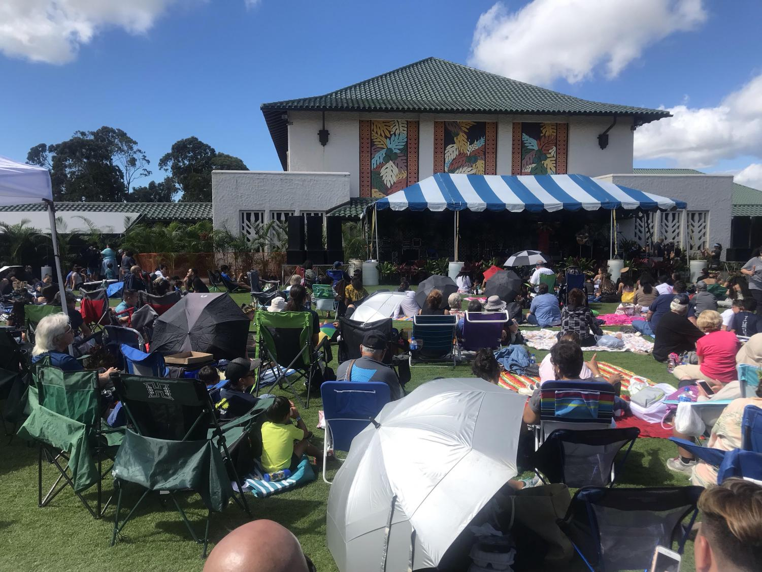 Stage and entertainment area at Ho'olaule'a