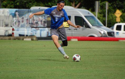 Men's Soccer Defender Shoots for Scoring Record