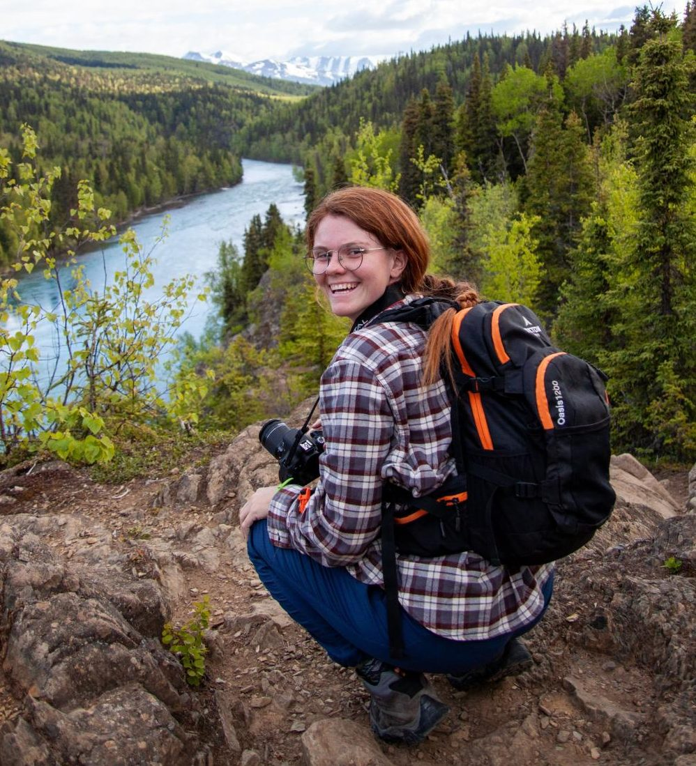 Shedden is spotted on the rocks of the Kenai River Trail in Alaska