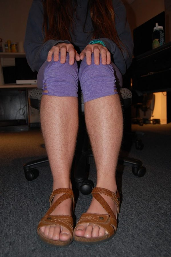 Environmental Studies senior Katelyn Shedded has been growing out her leg hair since May.