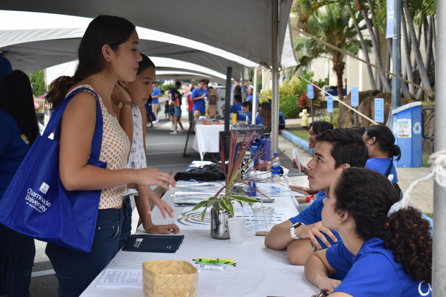 At 12:00 p.m., Chaminade University's second road was filled with interested high school students and their parents.